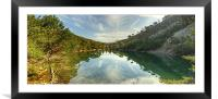 The Green Lochan, Framed Mounted Print