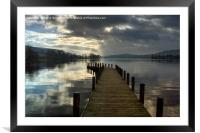 Monk Coniston Jetty, Framed Mounted Print