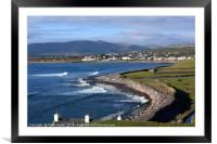 Waterville, Irish Seaside Village , Framed Mounted Print