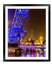 London Eye & Big Ben, Framed Mounted Print