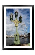 Westminster Bridge and the Millenium Eye, Framed Mounted Print