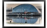 PS Waverley at the Glasgow Science Centre, Framed Mounted Print