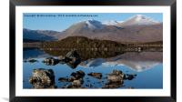 Rannoch Moor and the Black Mount, Framed Mounted Print