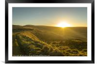 Goyt valley sunset, Framed Mounted Print