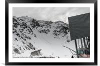Cable car to the top of the mountain, Framed Mounted Print