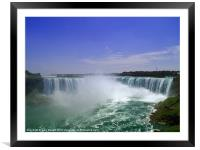 Falls Through The Mist, Framed Mounted Print