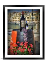 Wine and Grapes, Framed Mounted Print