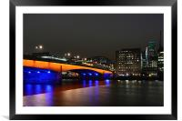London Bridge, Framed Mounted Print
