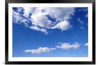 Clouds, Framed Mounted Print