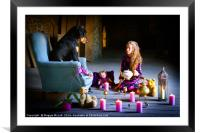 Tea-party in the Barn, Framed Mounted Print