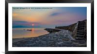 Sunrise on the Cobb, Lyme Regis, Framed Mounted Print