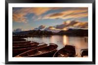 Moored Boats Derwent Water, Lake District., Framed Mounted Print