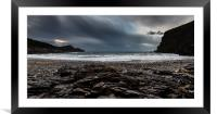 Crackington Haven, Cornwall, Panorma., Framed Mounted Print