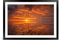 New Brighton Sunset ( Reflections), Framed Mounted Print