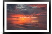 SUNSET (Fiery red sky), Framed Mounted Print