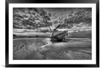"""""""FISHING COMMUNITY"""" (Boats on the Shore), Framed Mounted Print"""