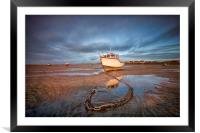 """""""CATCHING THE LIGHT Pt1 (Boats on the shore), Framed Mounted Print"""
