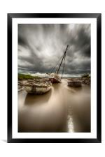 Boats on the River Dee, Framed Mounted Print