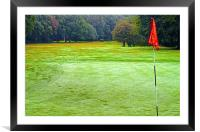 One part of a Nine hole golf course on Chorleywood, Framed Mounted Print