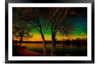 The last light at Sunset                          , Framed Mounted Print