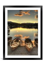 Boats on Windermere, Framed Mounted Print