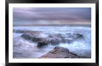 Misty Morning on the coast, Framed Mounted Print