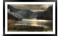 Mysterious cove, Framed Mounted Print