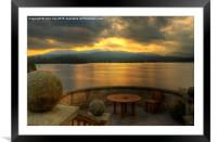 Windermere view, Framed Mounted Print