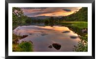 Rydal Water Sunset, Framed Mounted Print