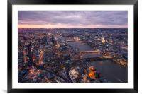 The View from The Shard, Framed Mounted Print
