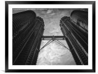 Petronas Towers in Malaysia, Framed Mounted Print