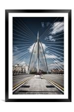 Seri Wawasan Bridge, Framed Mounted Print