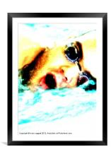 In the Swim, Framed Mounted Print