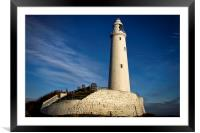 St Marys Lighthouse, Framed Mounted Print