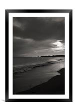 Just as the sun was rising, Framed Mounted Print