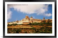 Mdina, The silent city, Framed Mounted Print