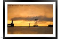 Sailing away into a soft focus morning, Framed Mounted Print