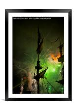 Fireworks and Tall Ships 4, Framed Mounted Print