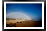 Fogbow on Druridge Bay, Framed Mounted Print
