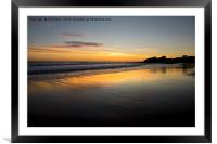 Just before sunrise in Northumberland, Framed Mounted Print