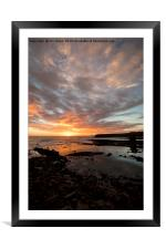 The start of another day, Framed Mounted Print