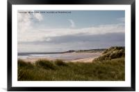 Druridge Bay in Northumberland, Framed Mounted Print