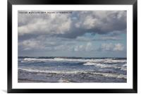 Seascape in blue and grey, Framed Mounted Print
