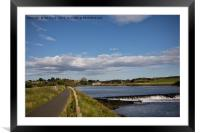 The road into Warkworth, Framed Mounted Print