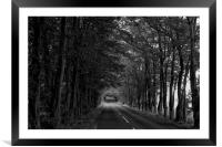 Bend in the road, Framed Mounted Print
