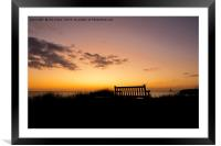 Take a seat and watch the sun rise., Framed Mounted Print