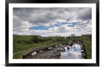 Low tide at Seaton Sluice Harbour, Framed Mounted Print