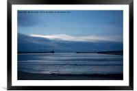 The start of a new blue day, Framed Mounted Print
