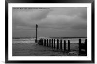 Looking out to sea., Framed Mounted Print