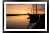Dawn reflections on the River Blyth, Framed Mounted Print